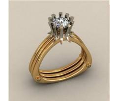 Кольцо женское ручной авторской работы артикул: КП1586