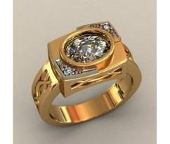 Кольцо для мужчин качественной, ручная работа артикул: КП-1729