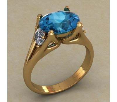 Массивное женское кольцо артикул: КН-663
