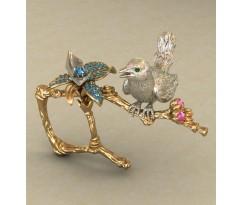Массивное женское кольцо артикул: КЭ-672