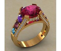 Кольцо женское ручной авторской работы артикул: КН-673