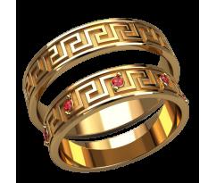 Парные оручальные кольца, ручная работа артикул: 2586 - пара