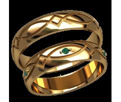 Парные оручальные кольца, ручная работа артикул: 2587 - пара