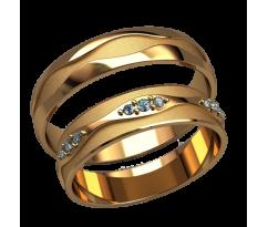 Парные оручальные кольца, ручная работа артикул: 2588 - пара