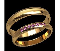 Парные оручальные кольца, ручная работа артикул: 2590 - пара