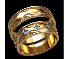 Парные оручальные кольца, ручная работа артикул: 2591 - пара