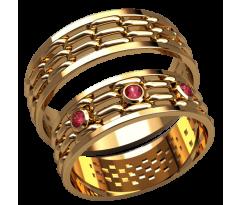 Парные оручальные кольца, ручная работа артикул: 2592 - пара