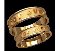 Парные оручальные кольца, ручная работа артикул: 2593 - пара