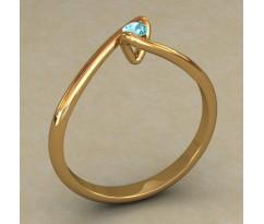 Кольцо для помолвки (выбор камня) артикул: 0520