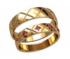 Кольца на свадьбу парные артикул: 2596 - пара