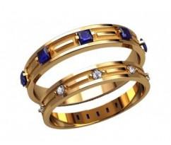 Кольца на свадьбу парные артикул: 2597- пара