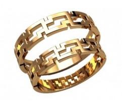 Кольца на свадьбу парные артикул: 2598- пара