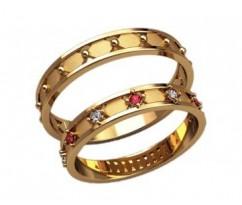 Кольца на свадьбу парные артикул: 2599 - пара