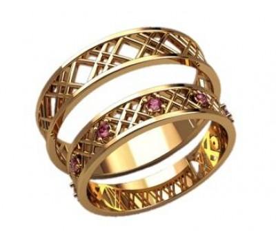 Кольца на свадьбу парные артикул: 2600 - пара