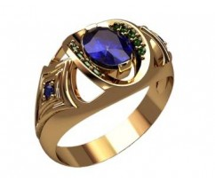 Мужское кольцо артикул: 3191