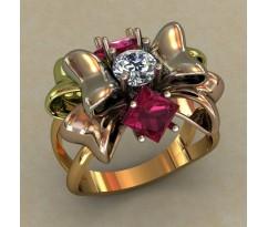 Кольцо женское ручной авторской работы артикул: 0679