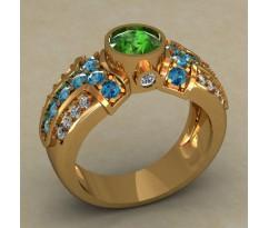 Массивное женское кольцо артикул: 0688