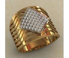 Массивное женское кольцо артикул: 0702