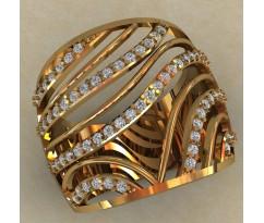 Массивное женское кольцо артикул: 0703