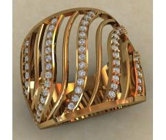 Массивное женское кольцо артикул: 0704