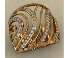 Массивное женское кольцо артикул: 0705