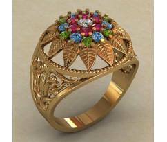 Массивное женское кольцо артикул: 0706