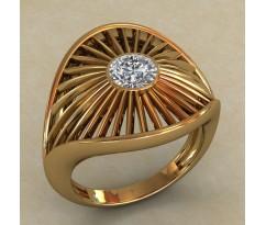 Массивное женское кольцо артикул: 0709