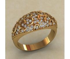 Массивное женское кольцо артикул: 0712