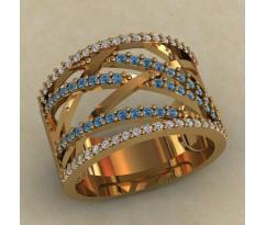 Массивное женское кольцо артикул: 0714