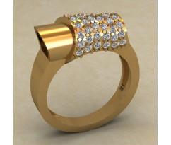 Массивное женское кольцо артикул: 0716