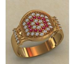Массивное женское кольцо артикул: 0717