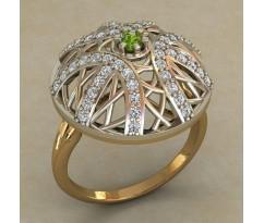 Массивное женское кольцо артикул: 0719