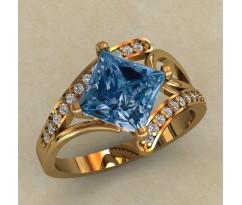 Женское кольцо индивидуальной обработки артикул: 0721