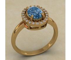 Массивное женское кольцо артикул: 0722