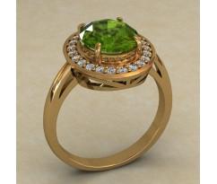 Массивное женское кольцо артикул: 0724