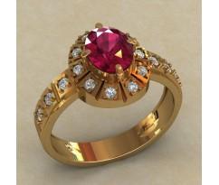 Массивное женское кольцо артикул: 0725