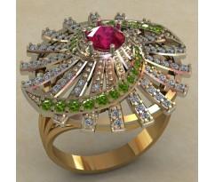 Массивное женское кольцо артикул: 0727