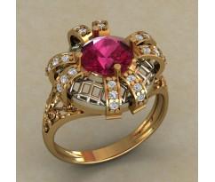 Массивное женское кольцо артикул: 0735