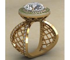 Массивное женское кольцо артикул: 0736