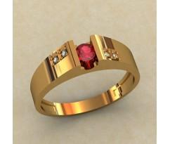 Кольцо для помолвки (выбор камня) артикул: 0379-КЕ