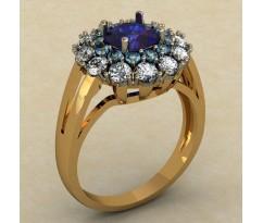Массивное кольцо артикул: 0461-КЕ