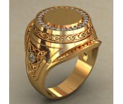 Мужское кольцо артикул: 0494