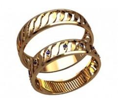 Кольца на свадьбу парные артикул: 20017 - пара