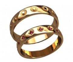Кольца на свадьбу парные артикул: 20019 - пара