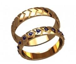 Кольца на свадьбу парные артикул: 20020 - пара