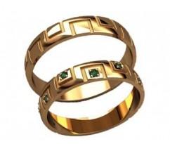 Кольца на свадьбу парные артикул: 20021 - пара