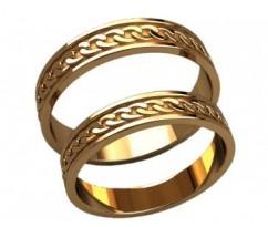 Кольца на свадьбу парные артикул: 20022 - пара