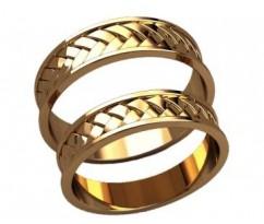 Кольца на свадьбу парные артикул: 20023 - пара