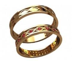 Кольца на свадьбу парные артикул: 20024 - пара