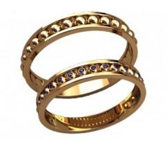 Кольца на свадьбу парные артикул: 20025 - пара